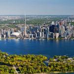 The skyline view of Toronto, Ontario