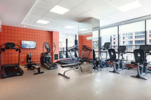 Gym room inside a hotel